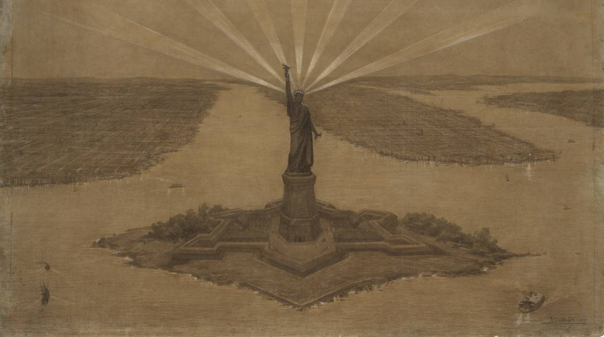 Print of the Statue of Liberty