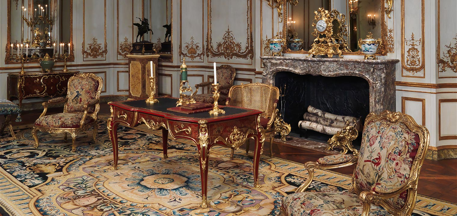 Photograph of The Varengeville Room, a French 18th-century period room at the Museum.