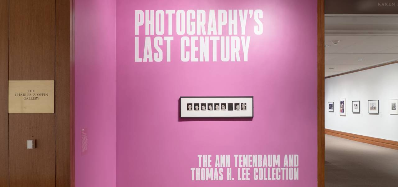 Screenshot from the exhibition tour video of Photography's Last Century: The Ann Tenenbaum and Thomas H. Lee Collection