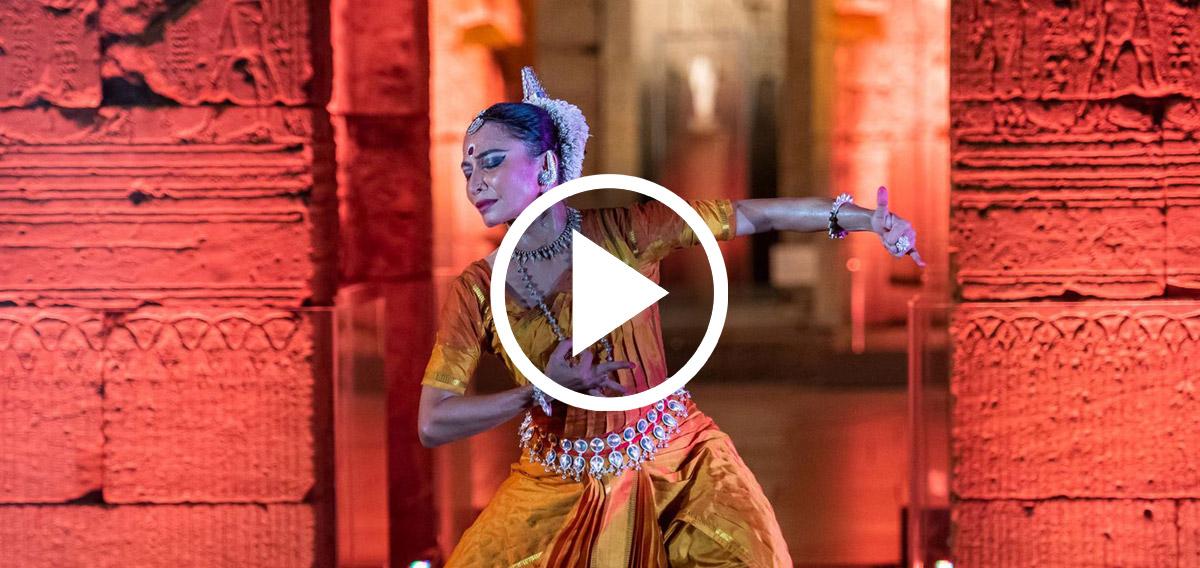 Video still: A dancer from the Nrityagram Dance Ensemble