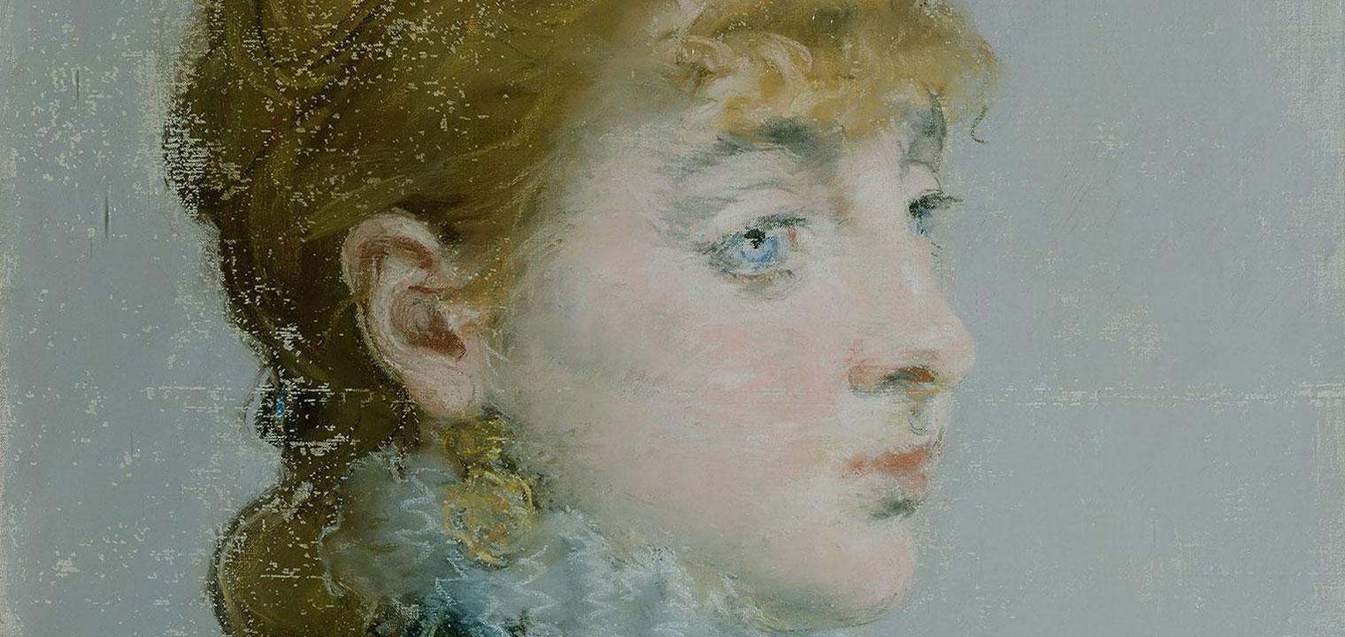 A pastel portrait of Emilie-Louise Delabigne on canvas by Matisse