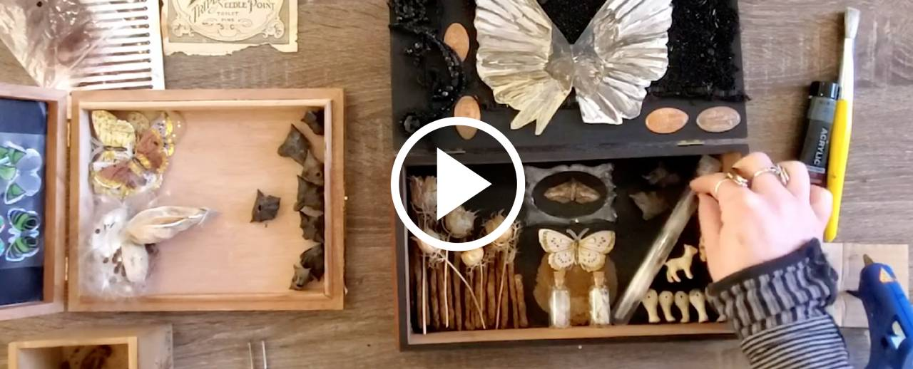 A collection of precious finds and everyday objects inspired by an apothecary cabinet.