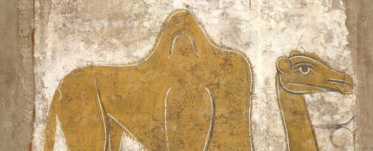 Fresco painting of a camel
