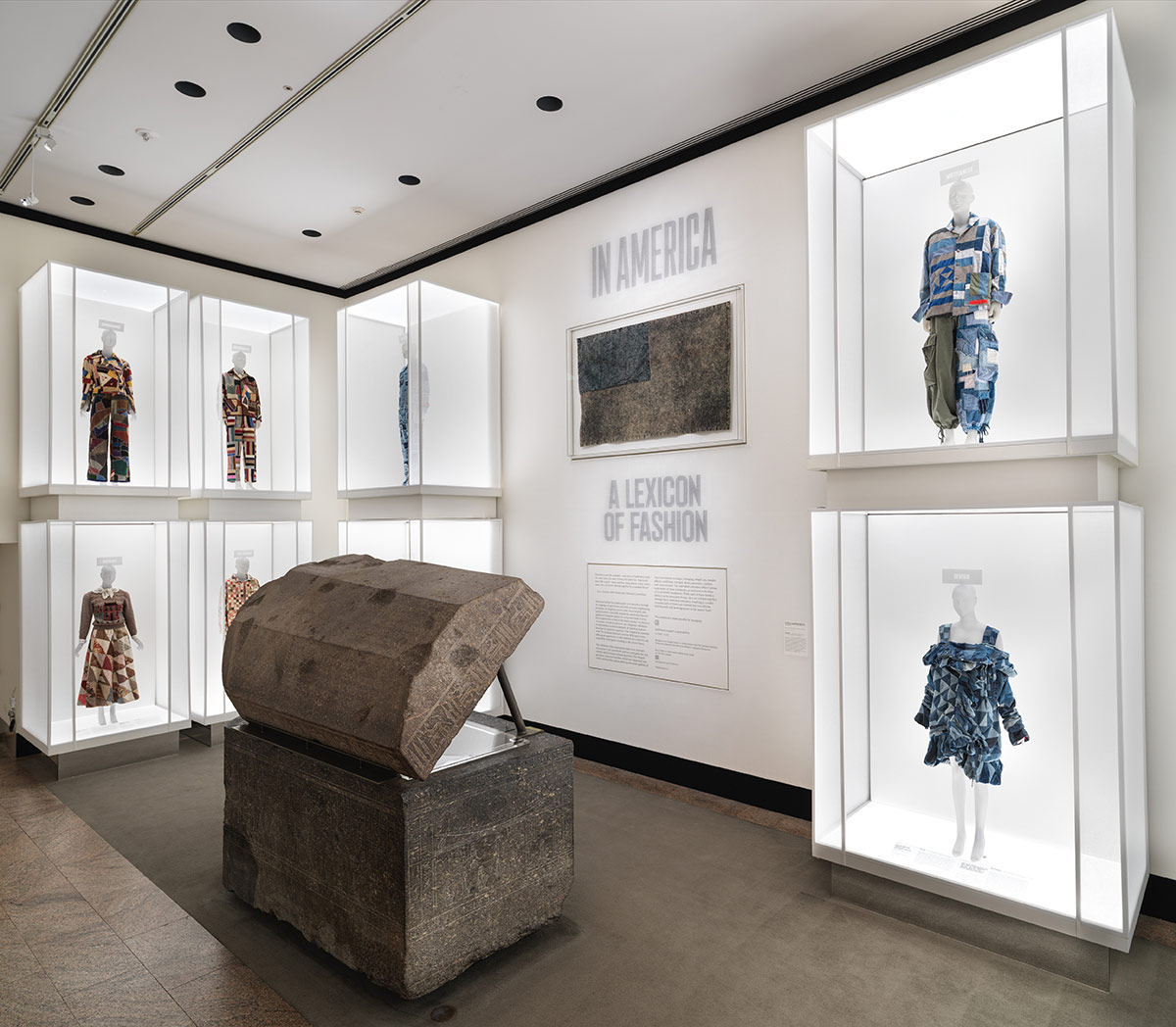 Gallery view of the exhibition, In America: A Lexicon of Fashion.
