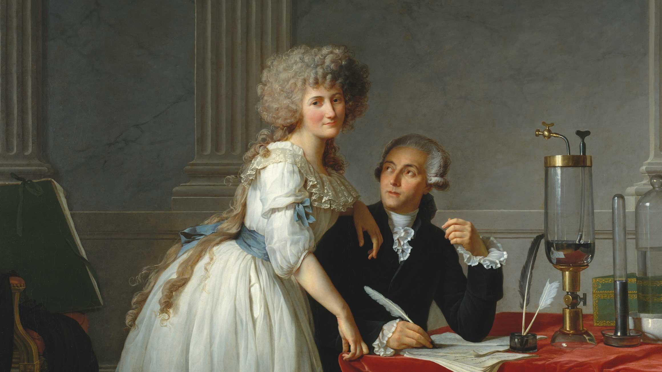 Jacques-Louis David's 1788 portrait of Antoine Laurent Lavoisier and Marie-Anne Lavoisier